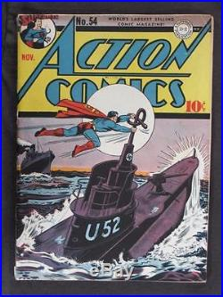 Action Comics #54 DC 1942 Superman Check out our Comic Books for SALE