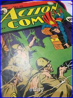 Action Comics 60, Superman WW2 Golden Age Classic