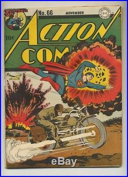 Action Comics #66 (1943) VG (4.0) Jack Burnley Cover Superman DC Comics