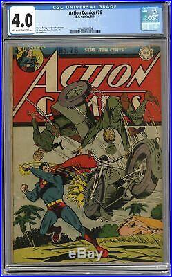 Action Comics #76 CGC 4.0 1944 0347334004