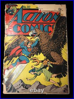 Action Comics #82 (FR 1.0) RARE Golden Age Comic Book! D. C. Comics! LOIS LANE