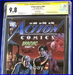 Action Comics #869 (2008) CGC 9.8 SS Recalled Beer Cover Edition DC Comic