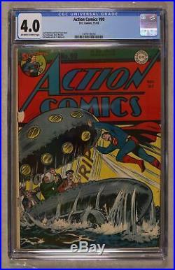 Action Comics #90 CGC 4.0 1945 1479118018