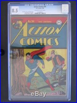 Action Comics #94 DC 1946 -HIGH GRADE- CGC 8.5 VF+ Superman Golden Age Comic