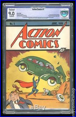 Action Comics (DC) #1 1938 CBCS 9.0 RESTORED