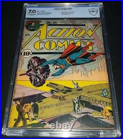 Action Comics Issue 55 Dec 1942 Cbcs 7.0 DC Golden Age World War II C