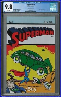 Action comics 1 reprint cgc 9.8 superman 1 8 bit Waite variant loot crate lot