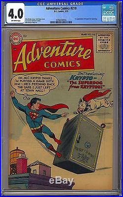 Adventure Comics #210 Very Nice CGC 4.0 Key 1st App. Krypto Superboy DC 1955