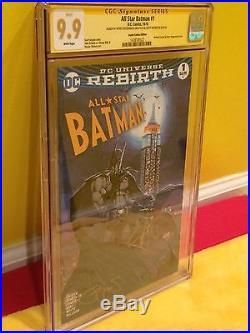 All Star Batman#1 CGC 9.9 WP Rebirth 2xSign, Wonder Woman, Superman, Michael Turner