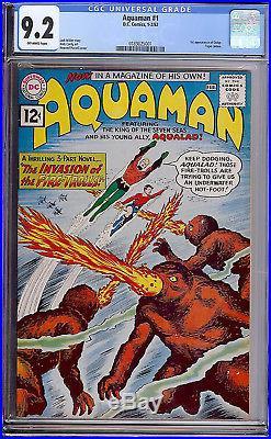 Aquaman #1 CGC 9.2 DC 1962 1st Quisp! Key Silver! JLA! Superman Batman G8 181 cm