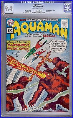 Aquaman #1 CGC 9.4 DC 1962 Justice League! JLA! Superman! Batman! F3 126 cm