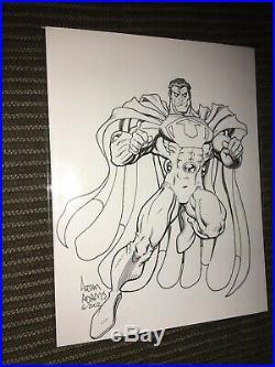 Arthur Adams Original Art sketch drawing Ultraman Evil Superman CSA Crime Art