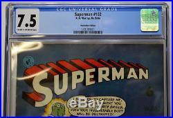Australian SUPERMAN 102 DC Comics 1950's w ACTION COMICS 242 1st App BRAINIAC
