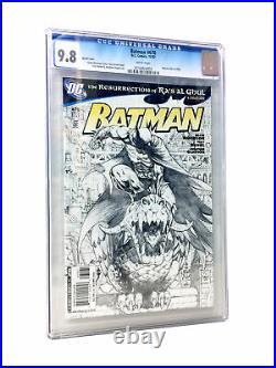 BATMAN #670 SKETCH COVER CGC 9.8 (DC 2007 1st Print)