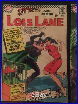 BATMAN & SUPERMAN Lot of 6 KEY Comics 181,189, 237, Lois Lane 70. Low to Mid