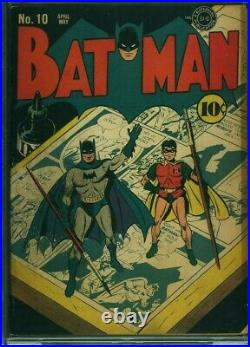 Batman #10 CBCS 4.5 VG+ Catwoman CGC Superman Artist-Fred Ray Golden Age 1942