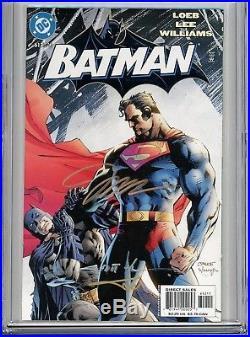 Batman 612 CGC 9.8 SS 1st print Hush Superman Jim Lee Loeb Sinclair Williams 608