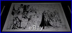 Batman Superman #7 DC New 52 Brett Booth Original Art Sideways Page 11x17