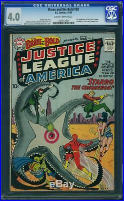 Brave and the Bold #28 CGC 4.0 1960 DC 1st Justice League! H3 131 cm clean