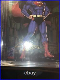CBCS 9.8 SS Action Comics #1000 JIM LEE SIGNED Foil Convention DC 2018 CGC NM