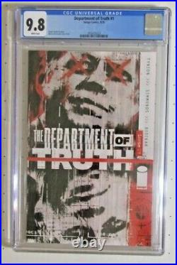 CGC 9.8 Department Of Truth #1 Cover A Image Comics 2020 Tynion & Simmonds