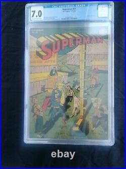Cgc 7.0 Superman 31 comic book golden age 1944