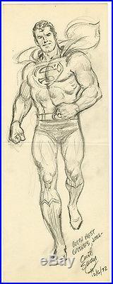 Curt Swan Superman Full Figure Pencil Drawing