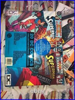 DC Collectors Pack July 1994 20 Comics DC Universe DCU Logo Fac Sealed Superman