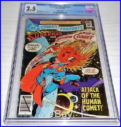 DC Comics Presents #22 Whitman Variant Cover CGC Universal Grade 2.5 Superman