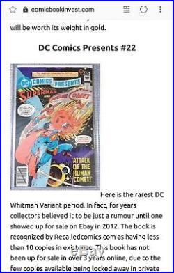 DC Comics Presents 22 Whitman variant key Holy grail of RARE NICE SHAPE