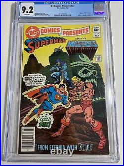 DC Comics Presents #47 Cgc 9.2 MOTU masters universe He-Man & Skeletor Newsstand