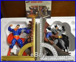 DC Direct SUPERMAN & BATMAN Deluxe BOOKENDS #677/750 McGuinnes / Shoop Sculpt