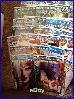 DC Rebirth Huge 78 Comic Lot All 1st Prints Nm 9.4 Condition Batman Superman Jla