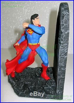 DC Superman Vs Doomsday Bookends Statue 1996 Orig Box Cape Cracked +BIN Bonus