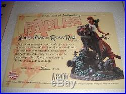 DC-VERTIGO FACTORY NEW! FABLES STATUE SHERE KHAN and ROSE RED VERY LOW #017/500