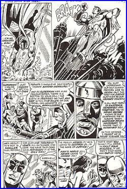 DICK DILLIN Superman JUSTICE LEAGUE #140 Original DC Comic Bronze Art 1976