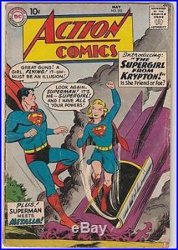 D. C. Action Comics No. 252, 1959, Superman and Supergirl