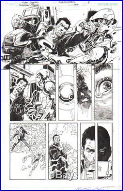 Dan Jurgens/ Bill Sienkiewicz 2016 Superman, Flash Original Art-free Shipping