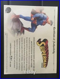 Dc comics superman full size statue designed by jim lee