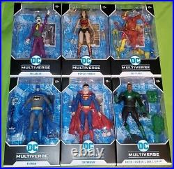 Dc multiverse mcfarlane lot superman batman wonder woman flash green lantern