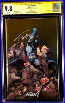 Dceased #1 Cgc Ss 9.8 Foil Variant Zombie Batman Wonder Woman Superman DC Comics