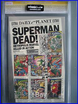 Death of Superman CGC 9.8 SS Signed & Sketch Dan Jurgens Platinum Edition