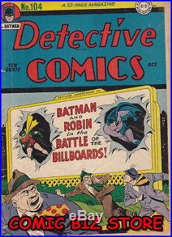 Detective Comics #104 (1945) Golden Age DC 1st Print Vg 4.0 Jerome Wenker Coa