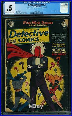 Detective Comics 168 1 Comic Superman Batman Justice League Cgc Unrestored