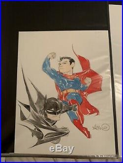 Dustin Nguyen Original Art Batman And Superman