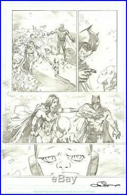 Emanuela Lupacchino Signed 2017 Wonder Woman, Batman, Superman Orig. Art