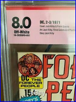 FOREVER PEOPLE #1 Signed by JACK KIRBY! Ultra rare CBCS 8.0 1st Darkseid 1971