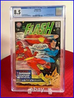 Flash 175 CGC Graded 2nd Superman vs. Flash Race