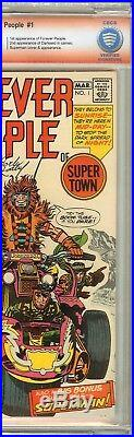 Forever People #1 CBCS 9.0 VF/NM Signed JACK KIRBY Darkseid Superman Appearance