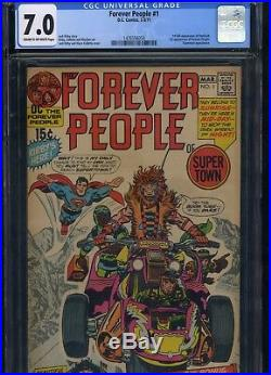 Forever People #1 CGC 7.0 JACK KIRBY 1st appearance of DARKSEID 1971